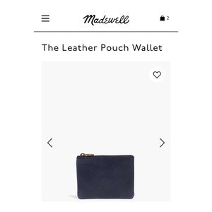 Navy pouch wallet